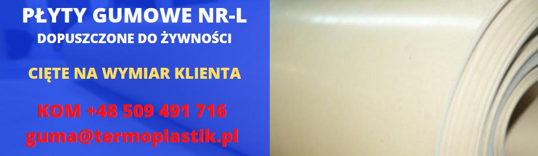 płyty gumowe spożywcze, guma NR-L, płyta gumowa spożywcza, płyta gumowa nr-l