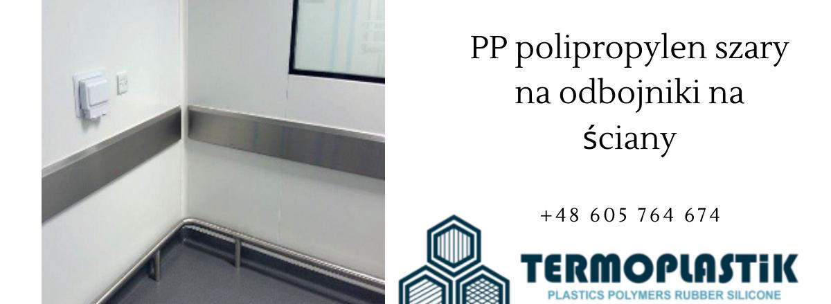 PP polipropylen szary na odbojniki na ściany w obiektach sportowych